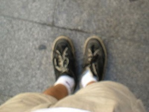 Photographing my feet in Spain 2003